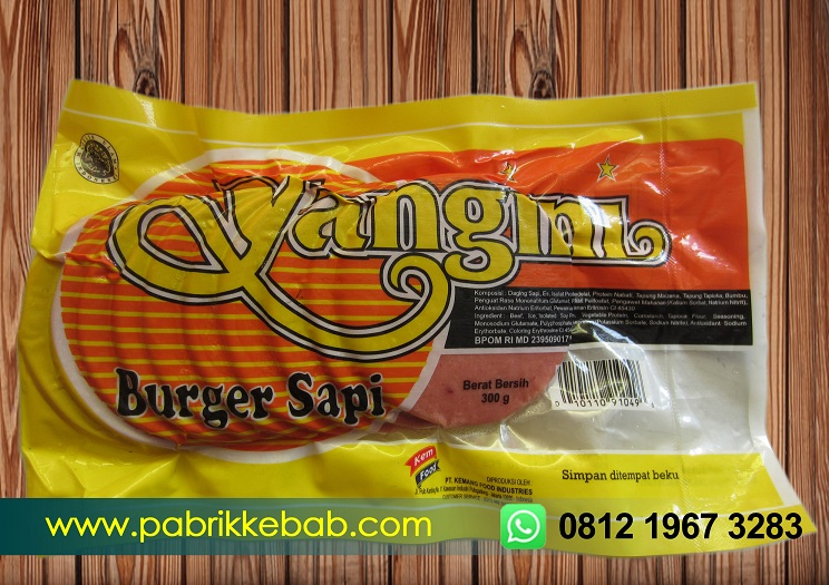 Beef burger yangini